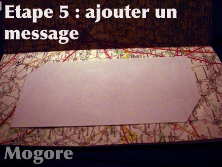 Etape 5 : le message